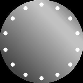 Зеркло диаметр 80 см